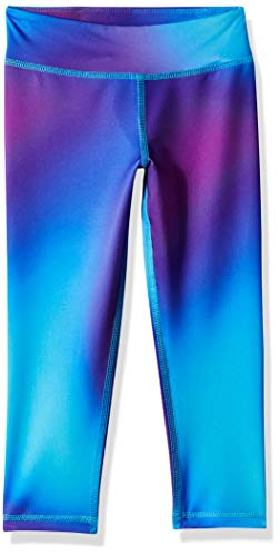Amazon Essentials Girl's Active Capri Legging, Ombre Purple, 3T