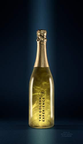 TGE Gold-Sekt The-Golden-Experience! Einzigartig trifft Original & Rarität! Für Champagner- und Sekt-Liebhaber als Lifestyle Getränk m. 23 K Blattgold, Goldplättchen & Goldstaub.