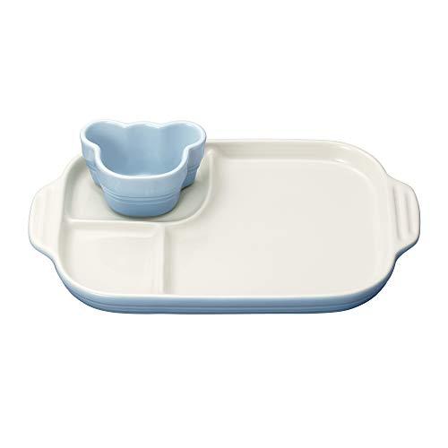 ルクルーゼ ベビー マルチ プレート & ラムカン 子供用 食器セット コースタルブルー
