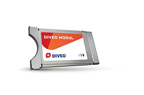 DIVEO CI+ module voor satelliettelevisies inclusief HD-kaart voor 3 maanden gratis ontvangst van meer dan 50 HD-zenders zilver