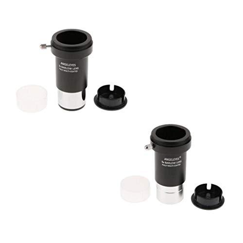 D DOLITY Lente Barlow 5X + 3X para Bushnell Leica Zeiss Telescopio Ocular 1.25 Pulgadas m42 x 0.75mm Reflector Rosca Universal