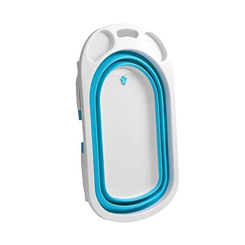 Bañera Bebé Plegable Azul - Bañeras Para Bebés Y Bañeras De Viaje,Bañera Plegable Bebe Color Azul Portátil Bañera
