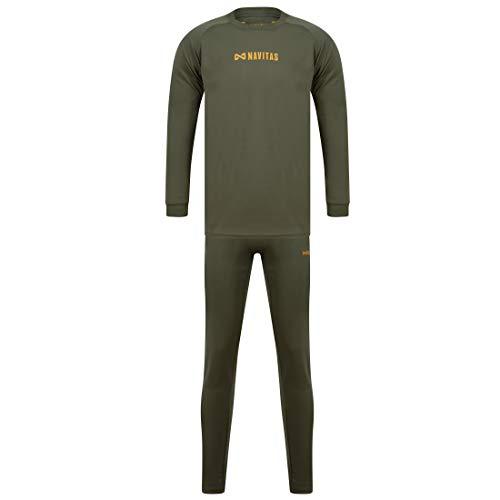 Navitas® Lichtgewicht thermo-ondergoed voor heren, set van thermo-ondergoed voor vissen en jacht, thermische ondergoed met lange mouwen en bovendeel met lange mouwen.