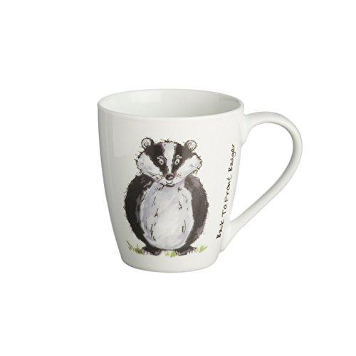 Price & Kensington Back to Front fine White China Badger Mug