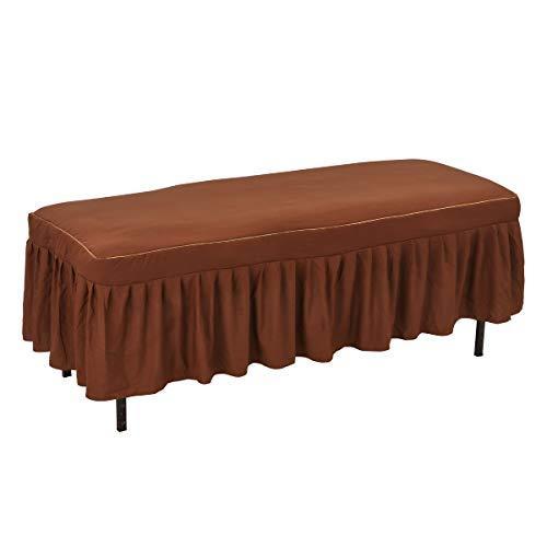 マッサージベッドカバー DX2 (綿・無孔) ブラウン 長さ180〜190×幅65〜75×厚さ約9〜12cm [ ベッドカバー ベッドシート ベッドシーツ ベットカバー ベットシート ベットシーツ マッサージ 整体 ベッド カバー シーツ シート エステ