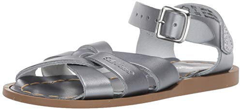 Salt Water Sandals by Hoy Shoes Baby Girl's The Original Sandal (Infant/Toddler) Pewter 7 Toddler M