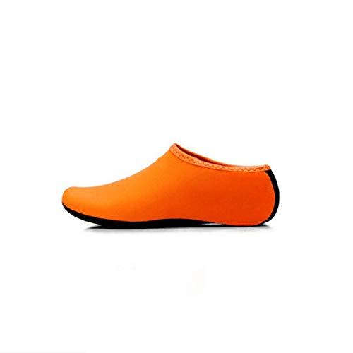 ACHICOO - Calcetines antideslizantes para nadar, surf, yoga, ejercicio, deportes al aire libre, naranja, S 36-37