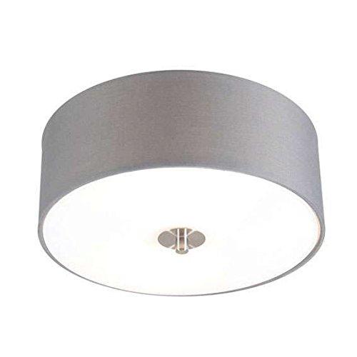 Preisvergleich Produktbild QAZQA Modern / Landhaus / Vintage / Rustikal Country Deckenleuchte / Deckenlampe / Lampe / Leuchte grau 30 cm - Drum mit Schirm / 2-flammig / Innenbeleuchtung / Wohnzimmerlampe / Schlafzimmer / Küche Gl