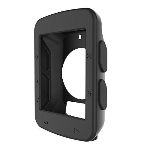 MiSha Funda Protectora de Silicona para Garmin Edge 520 GPS Cycling Computer(Negro)