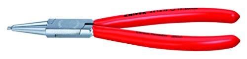 KNIPEX 44 13 J1 Sicherungsringzange für Innenringe in Bohrungen verchromt mit Kunststoff überzogen 140 mm