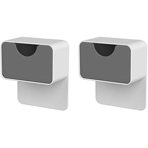 Umora キャビネットホルダー 耐震ストッパー 家具 固定 転倒防止 地震対策 収納ボックス付き 2個セット ダークグレー