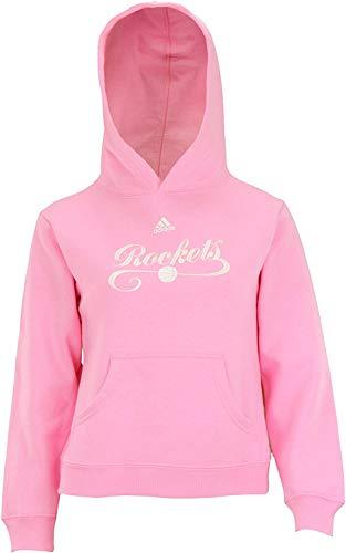 adidas Performance Houston Rockets NBA - Sudadera de forro polar con capucha, talla L, color rosa