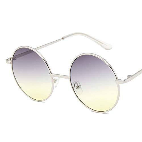 Gafas De Sol Gafas De Sol con Montura Redonda De Moda para Mujeres, Hombres, Diseñador De Lujo, Montura Metálica para Hombre, Lentes De Océano, Gafas De Sol, Anteojos Femeninos 1