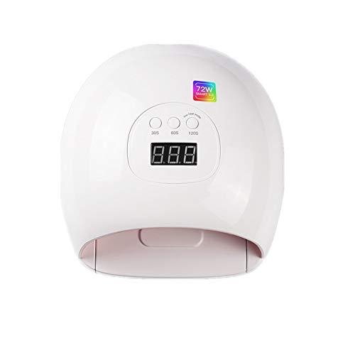 Lámpara de uñas LED UV Gel esmalte de curado Nail inducción inteligente de la lámpara LED de uñas fototerapia lámpara 72W de alta potencia Secador polaco Lámpara de gel profesional de calidad de salón
