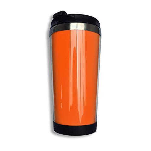 Hdadwy Taza de viaje personalizada de color naranja internacional liso liso Vaso de café con revestimiento de acero inoxidable Taza de viaje con aislamiento al vacío de doble pared para Navidad Cumple