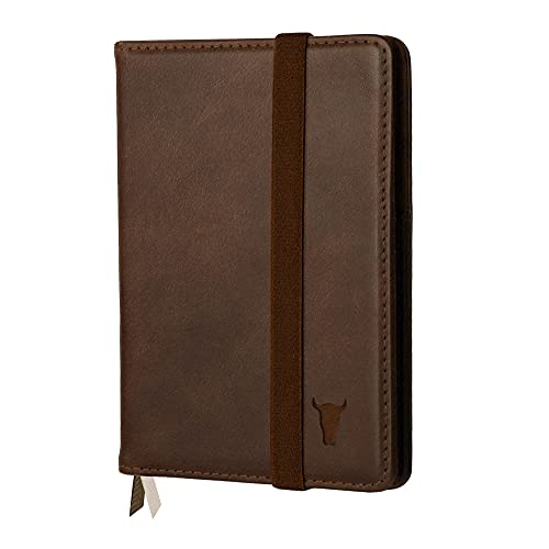 TORRO Genuine Leather Passport Holder with [Two Inner Pockets] [Elasticated...