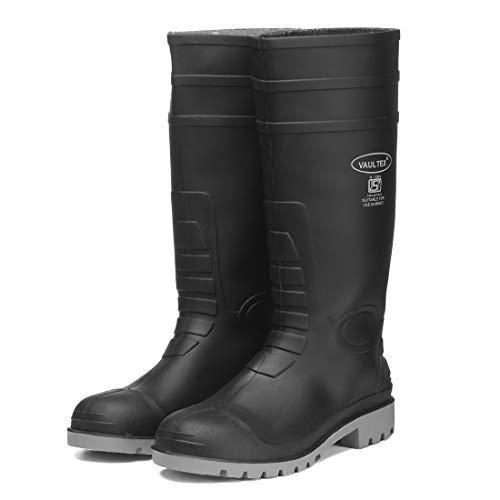 Vaultex Men's Black PVC ISI Mark Industrial Purpose Super Safety/Welsafe Gum Boots - (6)