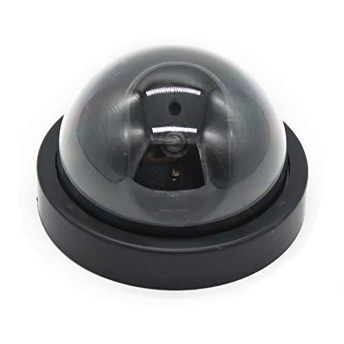 Dummy CCTV-Dome-Kamera; Mock CCTV-Kamera mit rot blinkendem Licht. Gefälschte Heimüberwachungs-Überwachungskamera.