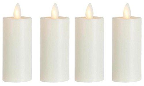 sompex 4er Set Flame LED Teelicht XL 39010 Elfenbein, fernbedienbar