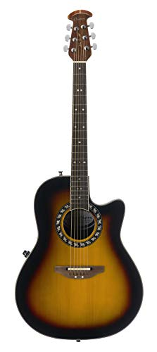 Ovation Signature Collection 6 String Acoustic Electric Guitar, Right, Sunburst (1771VL-1GC)