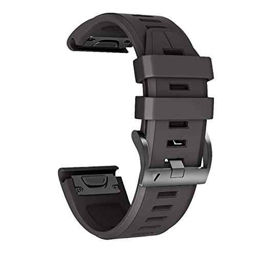 SGGFA Correa de reloj de silicona impresa para Garmin Fenix 5X/5/6X Pro/6/935/945/MK1/3 HR pulsera de repuesto de correa de muñeca hebilla de 22/26 mm (color: 2, tamaño: 22 mm)