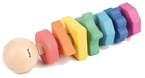 TickiT 74003-Torcedor de Madera Arco Iris, 7 Colores y 7 Formas (74003)