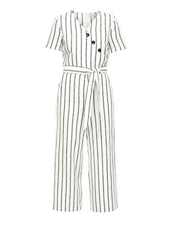 s.Oliver RED LABEL Damen Overall lang Off-White Stripe 38