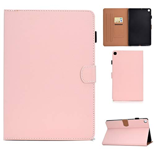 GLXC AYDD For Galaxy Tab S5e T720 Solid Color Tablet PC Universal Magnetic Horizontal Flip Leather Case with Card Slots & Holder (Color : Pink)