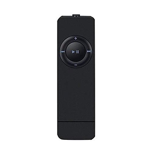 Mini Bluetooth MP3 MP4 Player mit Kopfhörern, Nourich 80 Stunden FM Radio, HiFi Sport Musik Lautsprecher Media Recorder USB Musikplayer Unterstützt von Sportmusik Player (schwarz)