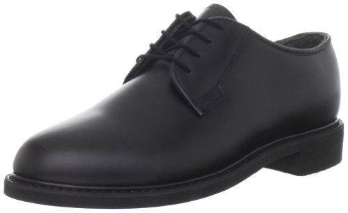 Bates Women's Leather Uniform Oxford, Black, 6.5 M US