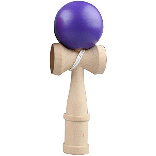 Habilidad de madera tradicional japonesa bola Kendama captura bola juego juguetes para niños adultos Púrpura