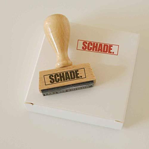 Sello de Schade. Sello de madera de haya. Un regalo divertido para cumpleaños, bodas, fiestas o el amigo invisible.