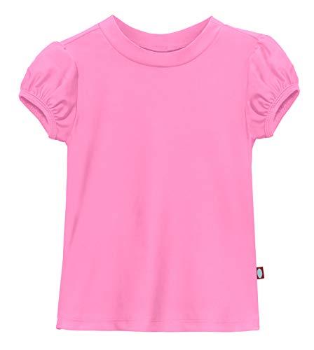 3T Yellow City Threads Girls Puff Short Sleeve Rashguard Swimming Shirt Swim Top Rash Guard UPF Sun Protection for Summer Beach Pool and Play