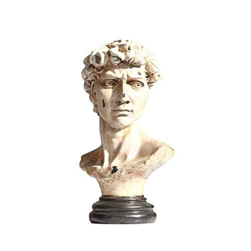 JYDQM Nordic Resin Sketch Head Statue Non-Gypsum Bust Mini Classic David Figurines Miniatures Sculpture Ornaments