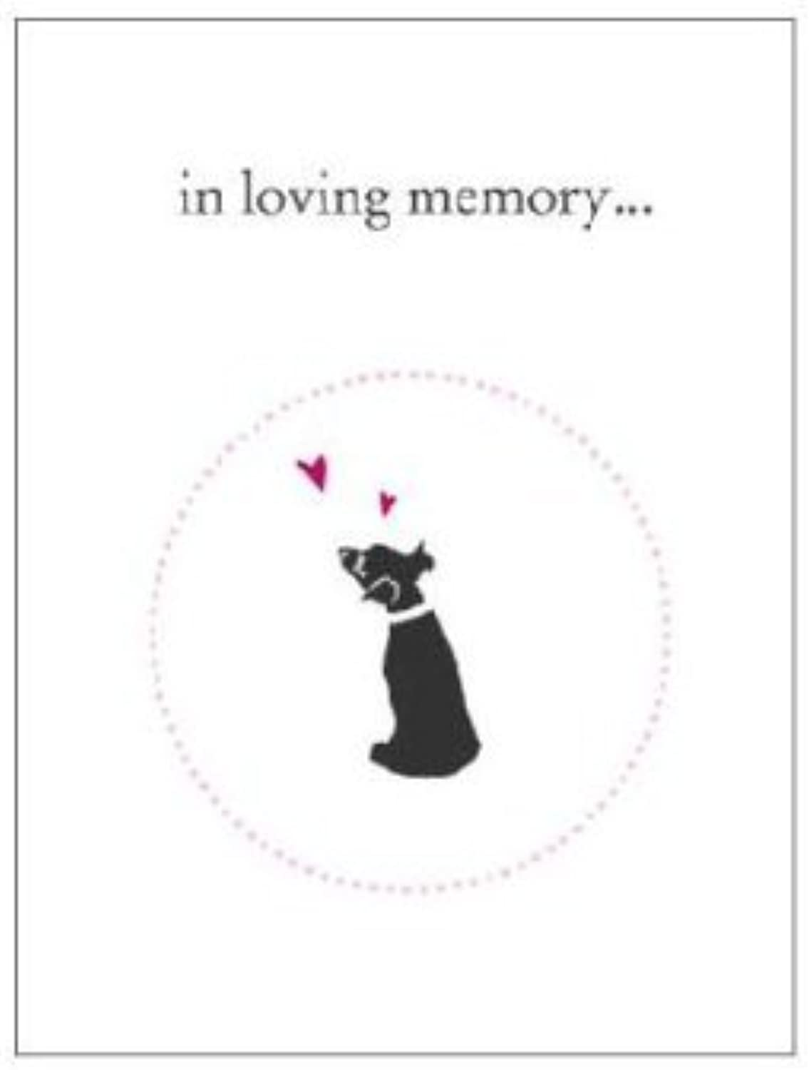 Luxepets In Loving Memory, Dog Sympathy Cards, 4Pack by Luxepets