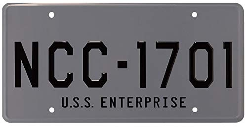 ASVP Shop Star Trek - USS Enterprise - NCC-1701 - Metal Stamped Replica Licence Plate