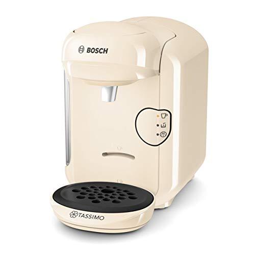 Tassimo Vivy2 Kapselmaschine TAS1407 Kaffeemaschine by Bosch, über 70 Getränke, vollautomatisch, geeignet für alle Tassen, platzsparend, 1300 W, creme