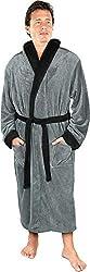 "Image of ""NY Threads Luxurious Mens Shawl Collar Fleece Bathrobe Spa Robe"": Bestviewsreviews"