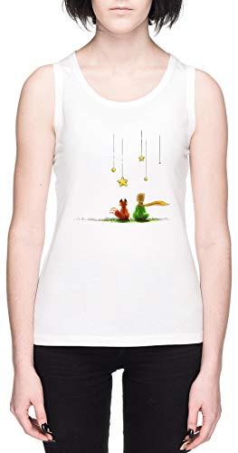 Le Petit Prinz Weißes Damen Tank T-Shirt Größe XL White Women's Tank Tee Size XL