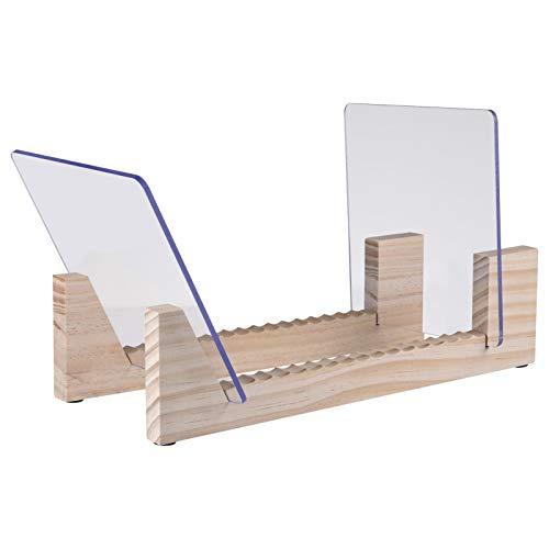 S/V Schallplatten-Aufbewahrungshalter aus Holz Displayständer aus Kiefernholz für bis zu 25 Alben
