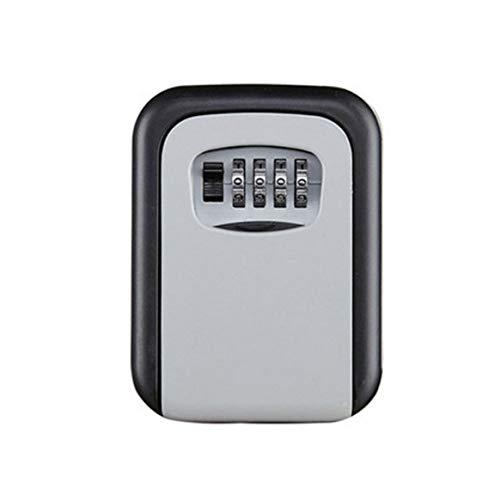 Llave de contraseña Caja de Bloqueo de Llave de Plata Caja de Seguridad de Llave de aleación de Aluminio montada en la Pared Caja de Seguridad de combinación de 4 dígitos Resistente a la Intemperie