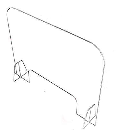 XSHBHD Dinge Perspex Bildschirm Schreibtisch for Counter, Farblos Acryl Plexiglas-Schild Schreibtisch Divider (Color : 40x60cm)