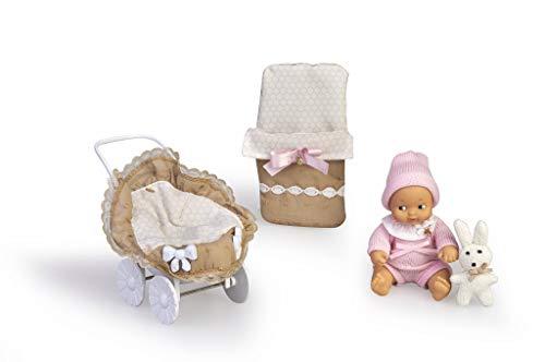 Barriguitas 700015810 Wagen mit Babypuppe und Kleidung