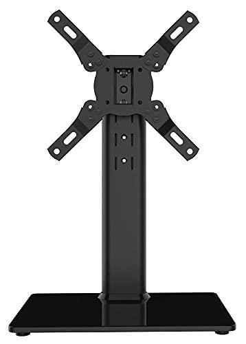 Giratorio Universal TELEVISOR Tabla de pie/Base TELEVISOR Párese para televisores de 13 a 39 Pulgadas 4 Altura de Nivel Ajustable (Color : Black)