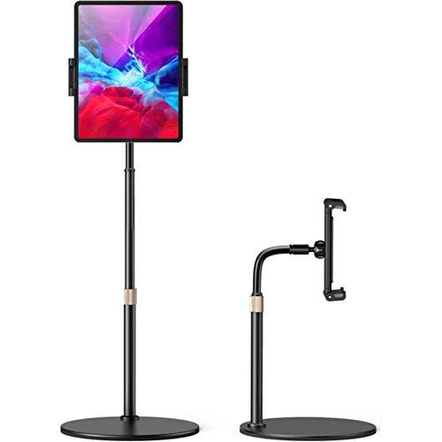 AllForYou Adjustable Floor Stand Holder Treadmill Bed 4.6-12.9 Inch Tablet Phone Holder Mount Flexible Gooseneck Stable Base for Ipad Pro