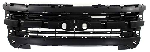 Header Panel Compatible with FORD EXPLORER/EXPLORER POLICE 2011-2015 Inner Grille Mounting Panel Black (Police 3.7L Engine) - CAPA