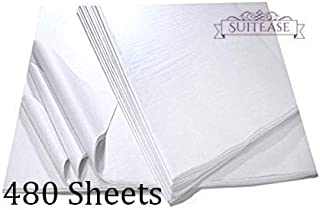 White Tissue Wrap Paper, Premium Quality Solid White, Large Sheets Ream 20 x 30