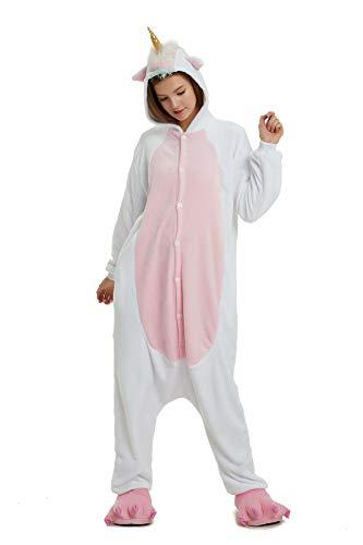Hycomell Unicornio Pijamas de una Pieza Unisexo Adulto Niñ