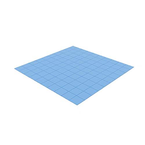 YIMEIGO Pad Termico, 100mmx100mmx1mm Thermal Pad in Silicone Blu per CPU GPU Dissipatore di Calore, efficiente Pad Termica, riempimento Gap