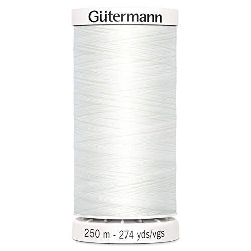 Gutermann Sew-All de Hilo, poliéster, Blanco, 250 m